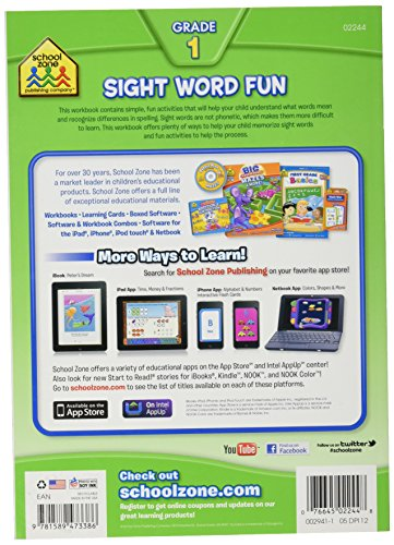 Toys For Grade 1 : Workbooks sight word fun grade toys games