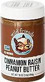 Wild Friends Foods Raisin Peanut Butter, Cinnamon, 16 oz Jar