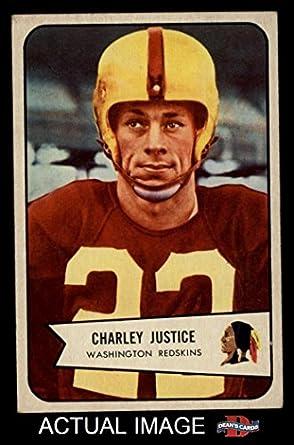1954 Bowman # 39 Charley Justice Washington Redskins (Football Card
