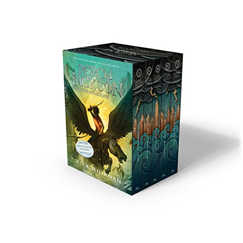 Percy Jackson and the Olympians 5 Book Paperback Boxed Set (new covers w/poster) (Percy Jackson & the Olympians) (Amazon Books Percy Jacson compare prices)