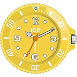 Ice-Clock 90 mm Travel Alarm Clock, Yellow
