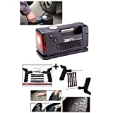 AFS's - Coido 3326- 12 V 12V 300PSI Electic Car Auto Tyre Inflator Air Compressor With Gauge Meter + Emergency...