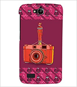 Printdhaba Camera D-5771 Back Case Cover For Huawei Honor Holly