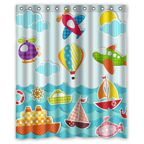 desertcart Oman: Cartoon Shower Curtain | Buy Cartoon Shower Curtain ...
