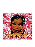 ARTE E TESSUTI by MANIFATTURE COTONIERE Panel Decorativo Pece_Donna Fucsia/Multicolor