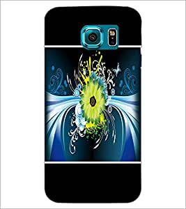 PrintDhaba Floral Pattern D-1393 Back Case Cover for SAMSUNG GALAXY S6 EDGE (Multi-Coloured)
