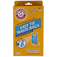 75 Pack Arm & Hammer 71041 Easy Tie Waste Bags (Blue)