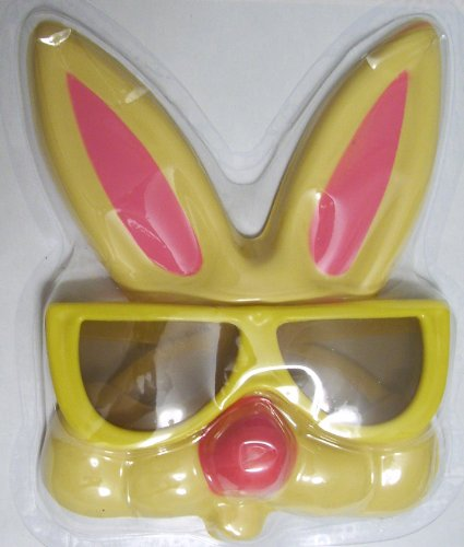 Easter Bunny Costume Glasses, Bunny Glasses, YELLOW