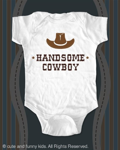 Handsome Cowboy  a Hat - cute baby onesie infant
