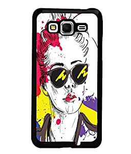 Fuson Colorful Google Girl Back Case Cover for SAMSUNG GALAXY GRAND PRIME - D3785