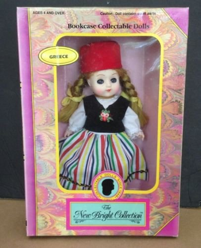 The New Bright Collection Greece Nikki Doll Bookcase Collectable Dolls 1992