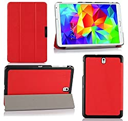 VSTN ® Samsung Galaxy Tab S 8.4 Ultra-Thin Multi-angle Stand Slim Smart Cover Case, only fit Samsung Galaxy Tab S 8.4 (Red)