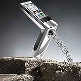 Küchenarmatur Tmaker- moderne Smart Touch-Messing 1 Loch 1 Hand Chrom Küchenarmatur [weiß]