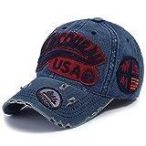 (イリリリー) ililily ディスカバリー USA ダメージ加工 ヴインテージ 野球 キャップ スナップバック トラッカー ハット (ballcap-604-1)