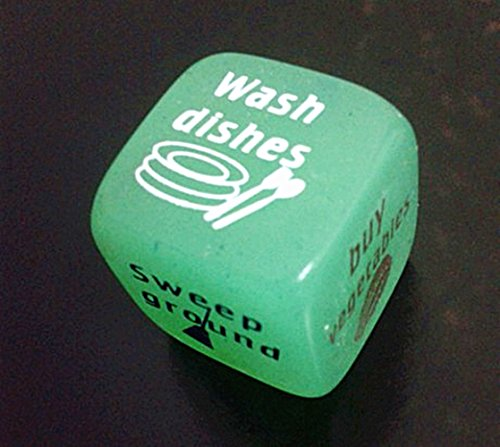 House Work Family Game Dice Glow in the Dark
