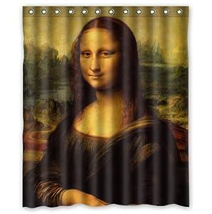 60 w x 72 l custom mona lisa by leonardo for Mona lisa shower curtain