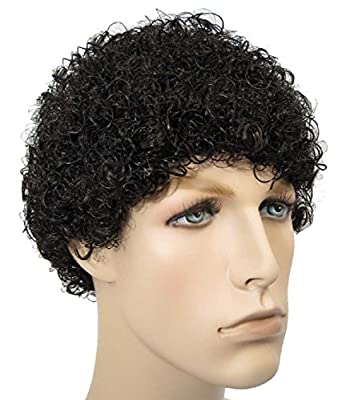 Tight Afro Jheri Curl Wig Costume Black