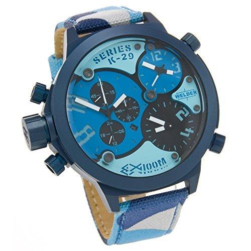時計 Welder ウェルダー by U-Boat K29 Triple Time Zone Chronograph Blue Steel Mens Sport Watch Camouflage Strap K29-8006 メンズ 男性用 [並行輸入品]