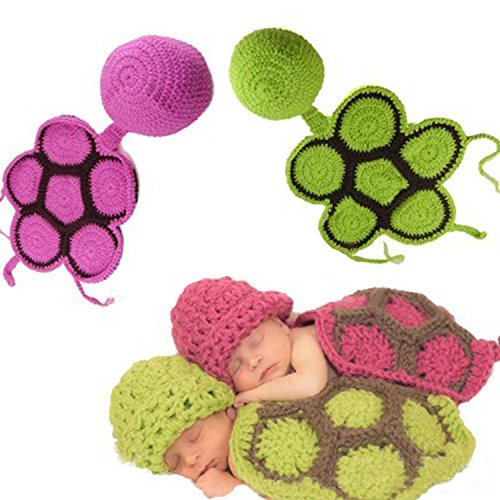 Kitron TM Photography Prop Unisex Baby Costume Crochet Knitted Tortoise Outfits