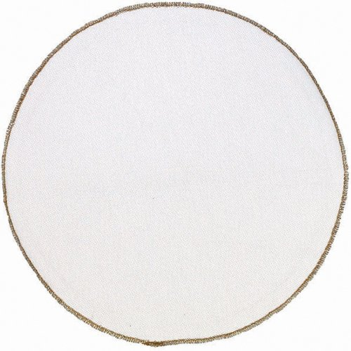 Gold Trim Tulle Circles 12 CT - 1