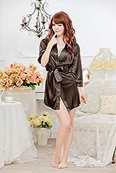 Evana Hot Satin Nightwear Sleepwear Nighty (Black)