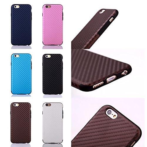 iphone6 plus 携帯 ケース 樹脂 6色 黒 白 ピンク 茶 紺 スエード アイフォン6 6 プラス スマホ カバー  (目印に便利、「ホナまたステッカー」付き)[ケンコバハンズ] (6Plusネイビー)