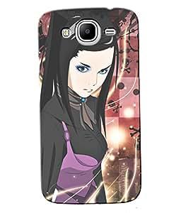 Fuson Checks Pattern Girl Back Case Cover for SAMSUNG GALAXY MEGA 5.8 - D3950