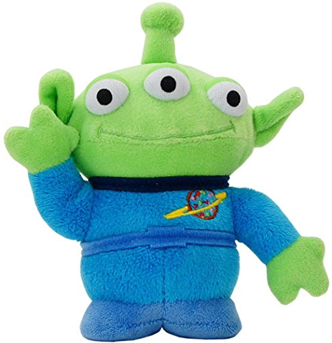Japan Disney Official Toy Story - The Little Green Alien Cute Stuffed Doll Special Edition Medium Size Standing Animal Mascot Beans Collection Wonderful Interior Decorative (Toy Story Buttercup)