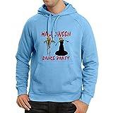 N4028H Sweatshirt à capuche manches longues Fête d'Halloween (Large Bleu Multicolore)...