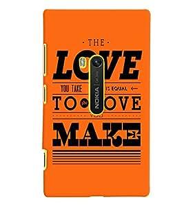 printtech Love Make Back Case Cover for Nokia Lumia 920::Microsoft Lumia 920
