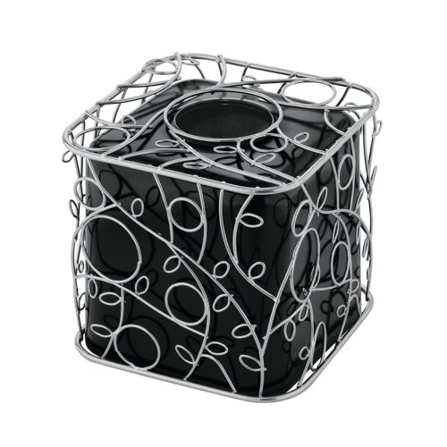 InterDesign Twigz Boutique Box, Silver/Black