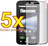 5x Motorola ATRIX 4G MB860 Premium Clear LCD Screen Protector Cover Guard Shield Flim Kit, no cutting is required! Exact fit and satisfaction guaranteed!