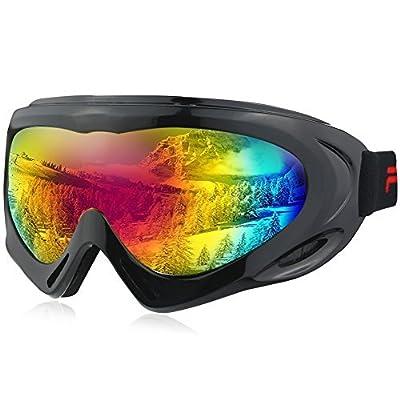 Fantastic Zone OTG Ski Goggles Over Glasses Ski Snowboard Goggles for Men, Women & Youth 100% UV Protection