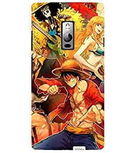 Evaluze college guys Printed Back Cover for ONE PLUS TWO