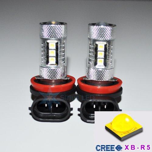 2X H11 80W Cree White High Power Led 12V Drl Daytime Running Fog Light