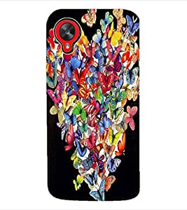 ColourCraft ButterFly Heart Back Case Cover for LG GOOGLE NEXUS 5