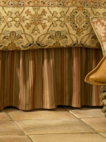 Lauren By Ralph Lauren Bedding; Northern Cape Terra Cotta Stripe Queen Bedskirt front-1043577