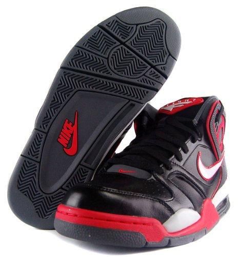 602ceeea232e Nike Men s Air Flight Falcon Basketball Leather Shoes-Black Red White Gray  Review