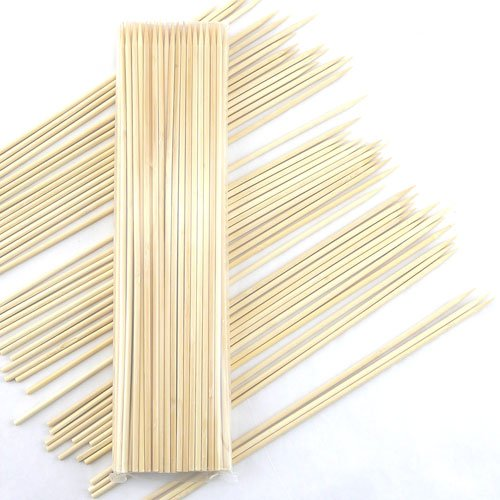"Thinkbamboo Premium 5Mm Thick Sharp Point Bamboo Kebab Skewers, 12"" - 100Pc Pack"