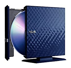 ASUS External Blu-Ray Drive Reads 6X BD-ROM/R/RE and Writes 8X DVD+R/24XCD-R Formats SBC-06D1S-U (Diamond Blue)