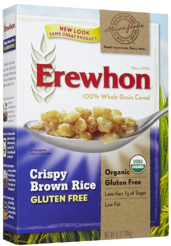 Erewhon Crispy Brown Rice Cereal, Gluten Free, Organic, 10 oz (Rice Crispy Gluten Free compare prices)