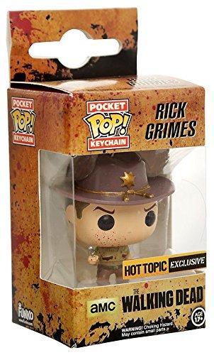 Funko - Porte clé Walking Dead - Rick Grimes Blood Splattered 4cm - 0849803070755