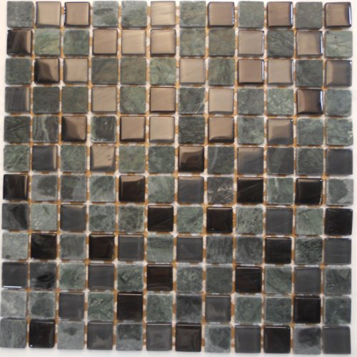Glass Tile Backsplash kitchen Bathroom Stone Glass Mosaic Tile ST23006
