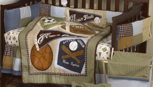 New Sports Fan Piece Baby Crib Bedding Set