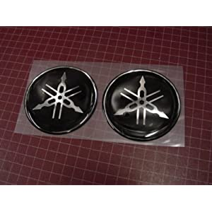 vintage motorcycle yamaha tuning fork round badges thick plastic yam t3 other. Black Bedroom Furniture Sets. Home Design Ideas