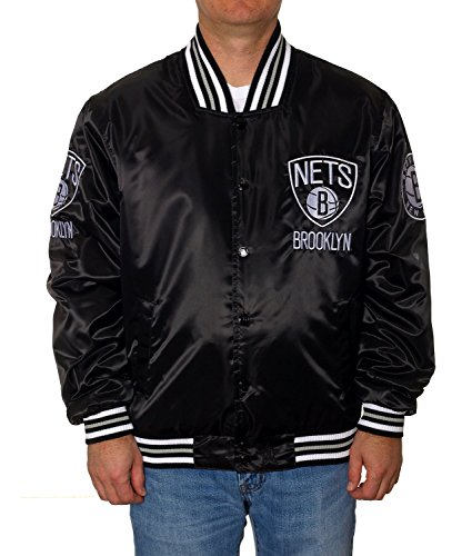 Brooklyn Nets Satin Jacket Black (XXL)