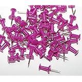 200 Dark Pink Purple Push Pins Ideal for Cork Boards