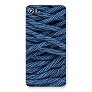 Denim Rope Print Back Case Cover for Micromax Canvas Fire 4 A107