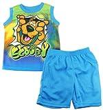 Scooby-Doo Little Boys' Tank Top 2Pc Mesh Shorts Set
