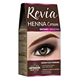 Revia Henna Cream Black Brown Eyebrow 10 Applications Kit Tint (Brown) Cream Black Brown Eyebrow and Lashes 10 Applications Kit Tint (Brown)
